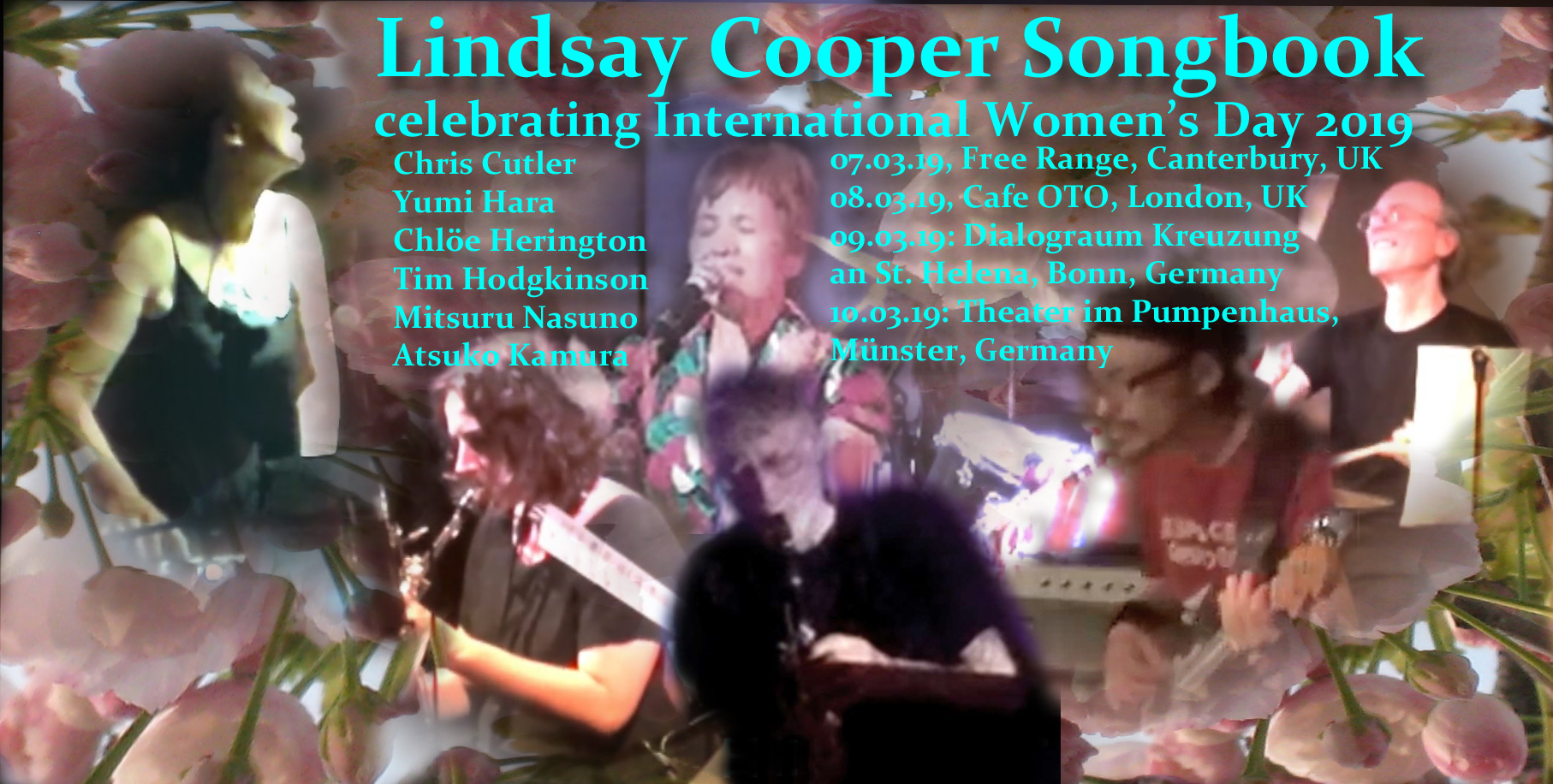 Lindsay Cooper Songbook 2019 tour